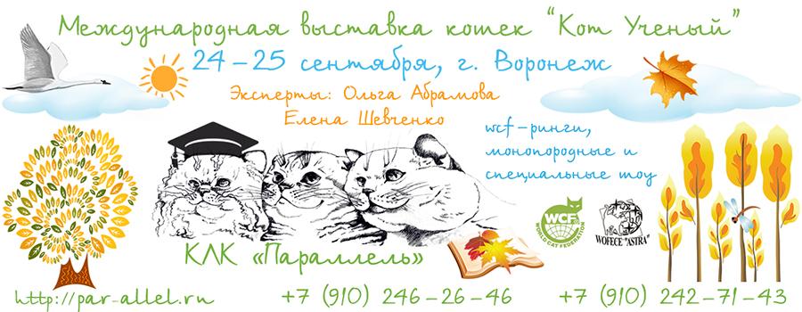 Международная выставка кошек Кот Учёный